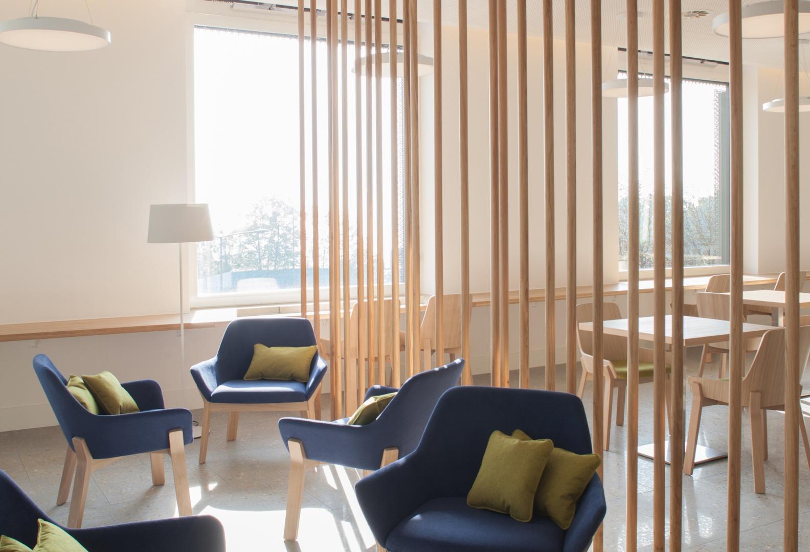 Hôtel des patients, restaurant © Brauen Wälchli Architectes, Marc Schellenberg