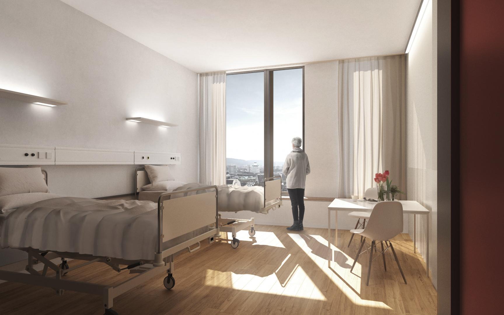 BB12 - Doppelzimmer Fensterblick © Planergemeinschaft Archipel, Seelandweg 7, 3013 Bern
