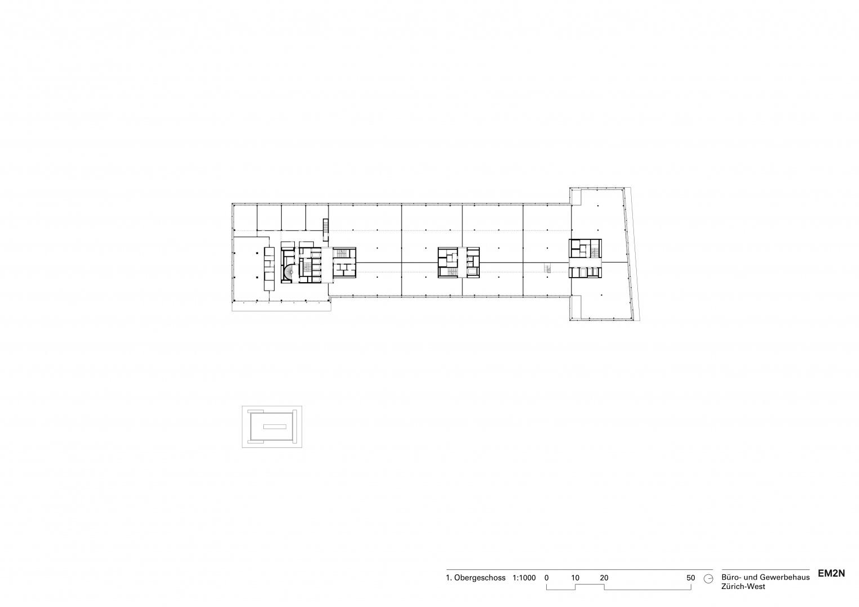 1. Obergeschoss © EM2N
