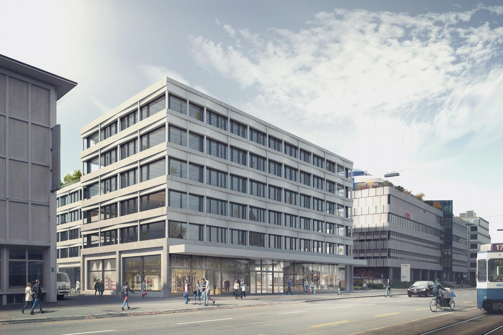 Kopfbau Hardturmstrasse © nightnurse images, Zürich