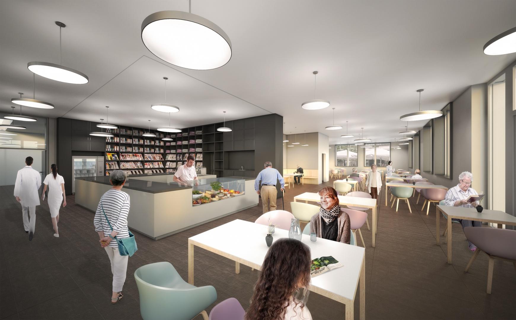 Perspektive Cafeteria © Holzer Kobler Architekturen