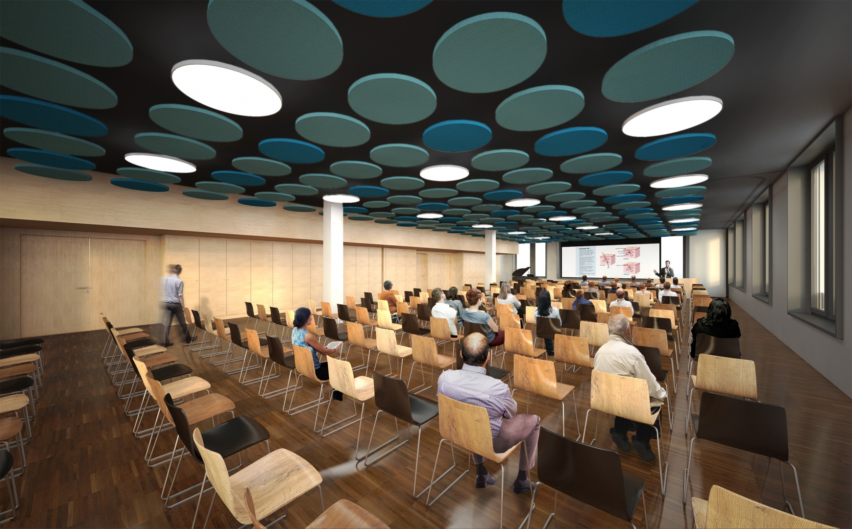 Perspektive Konferenz © Holzer Kobler Architekturen
