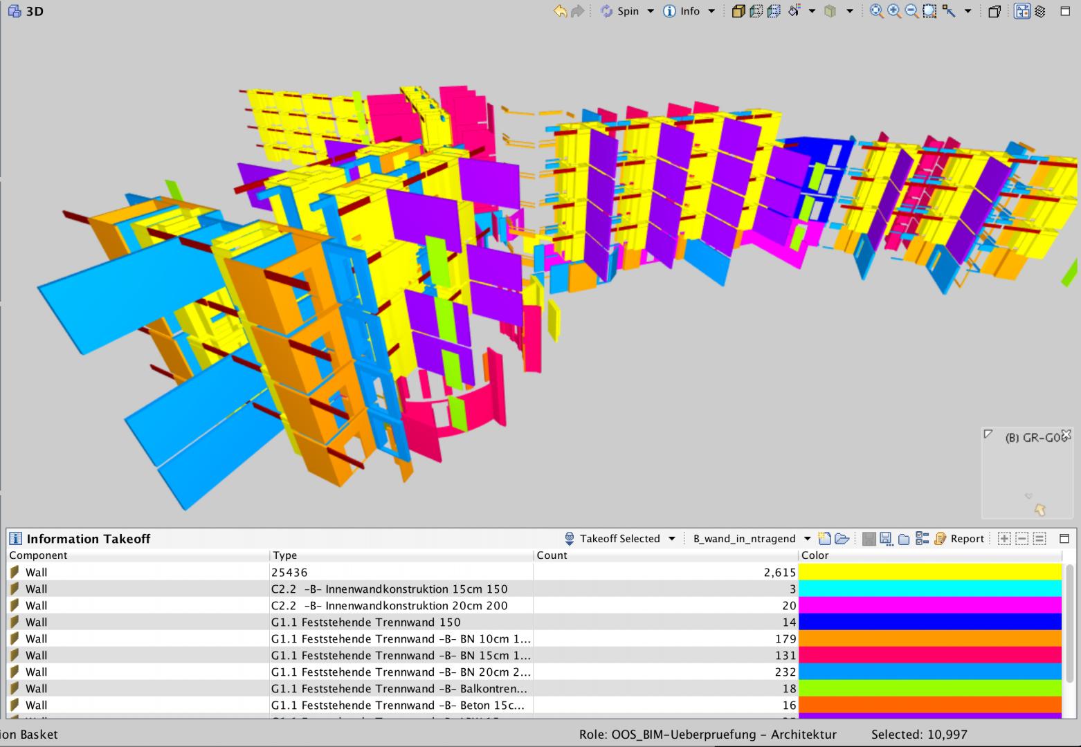 Solibri-Voreinstellung zur visuellen Prüfung von Bauteileigenschaften © OOS AG