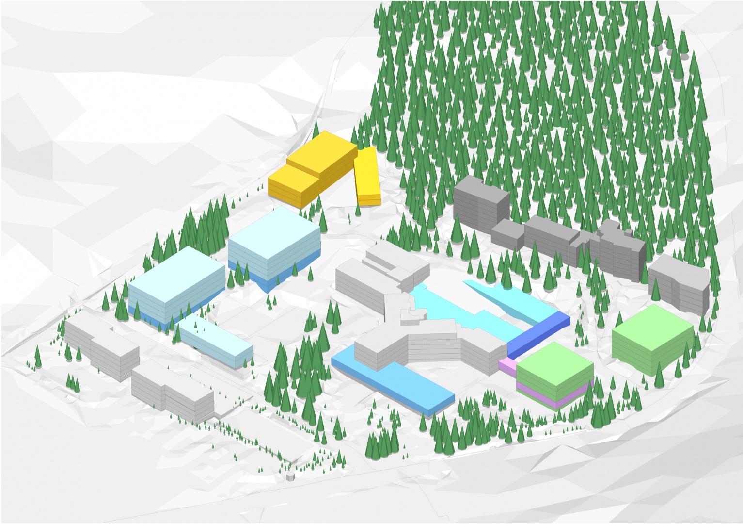 Masterplan Areal Hochgebirgsklinik © OOS AG