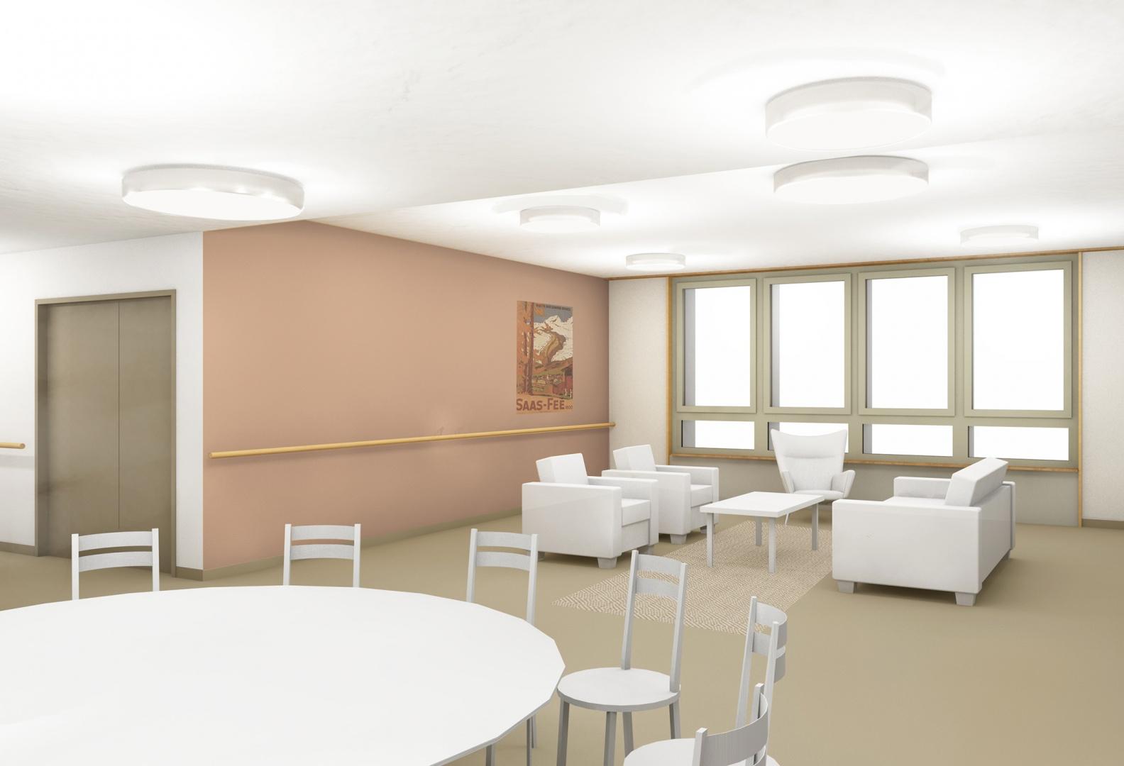 Oberried Aufenthaltsbereich Sitznische © matti ragaz hitz architekten ag