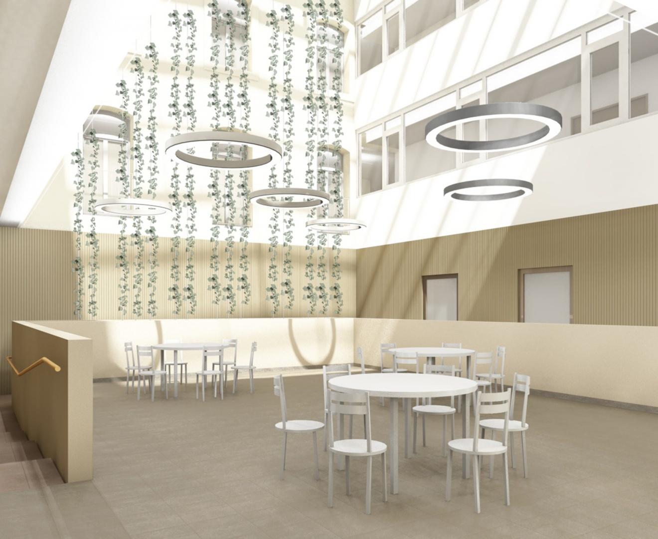 Oberried Innenhof Cafeteria © matti ragaz hitz architekten ag