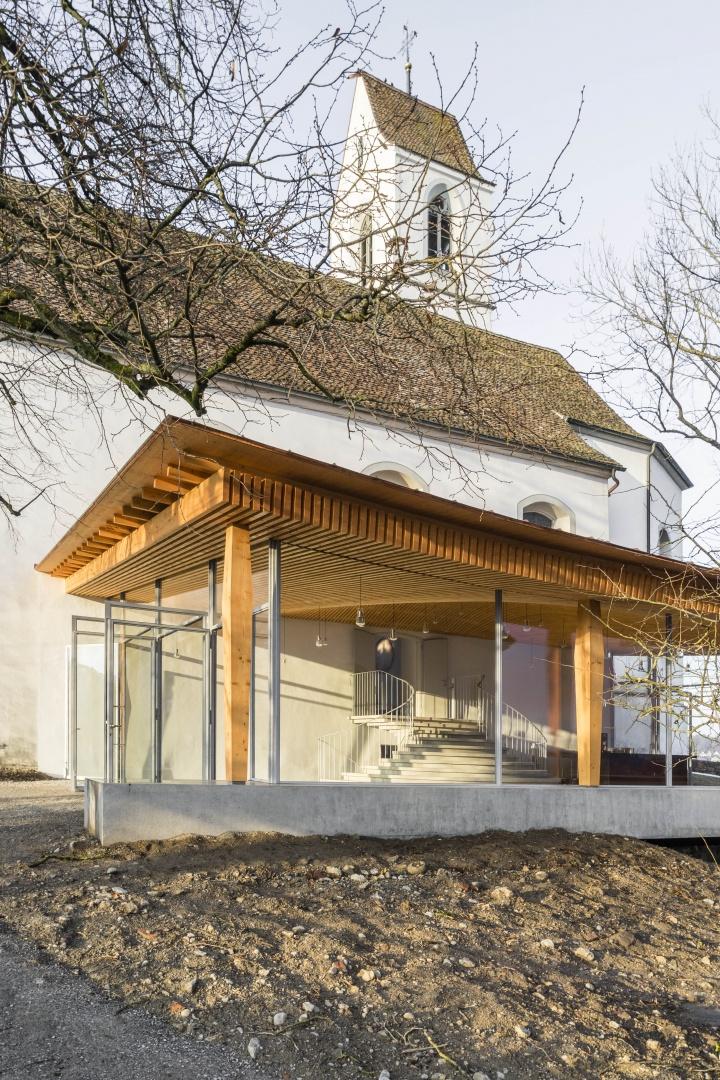 Foyer Künstlerhaus Boswil © Gian Salis Architektur GmbH