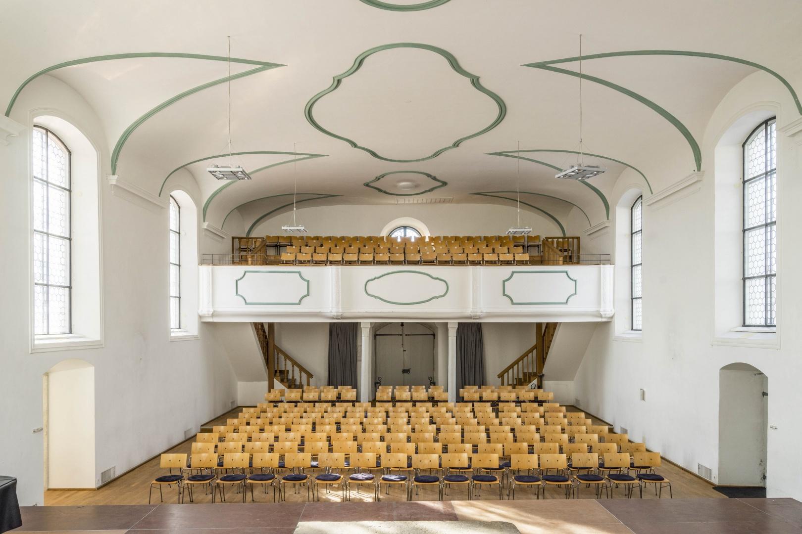 Foyer Künstlerhaus Boswil, Kirche © Gian Salis Architektur GmbH