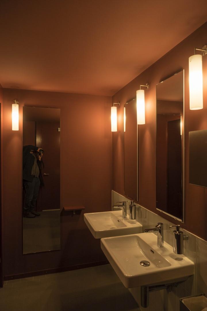Foyer Künstlerhaus Boswil, Toiletten © Gian Salis Architektur GmbH