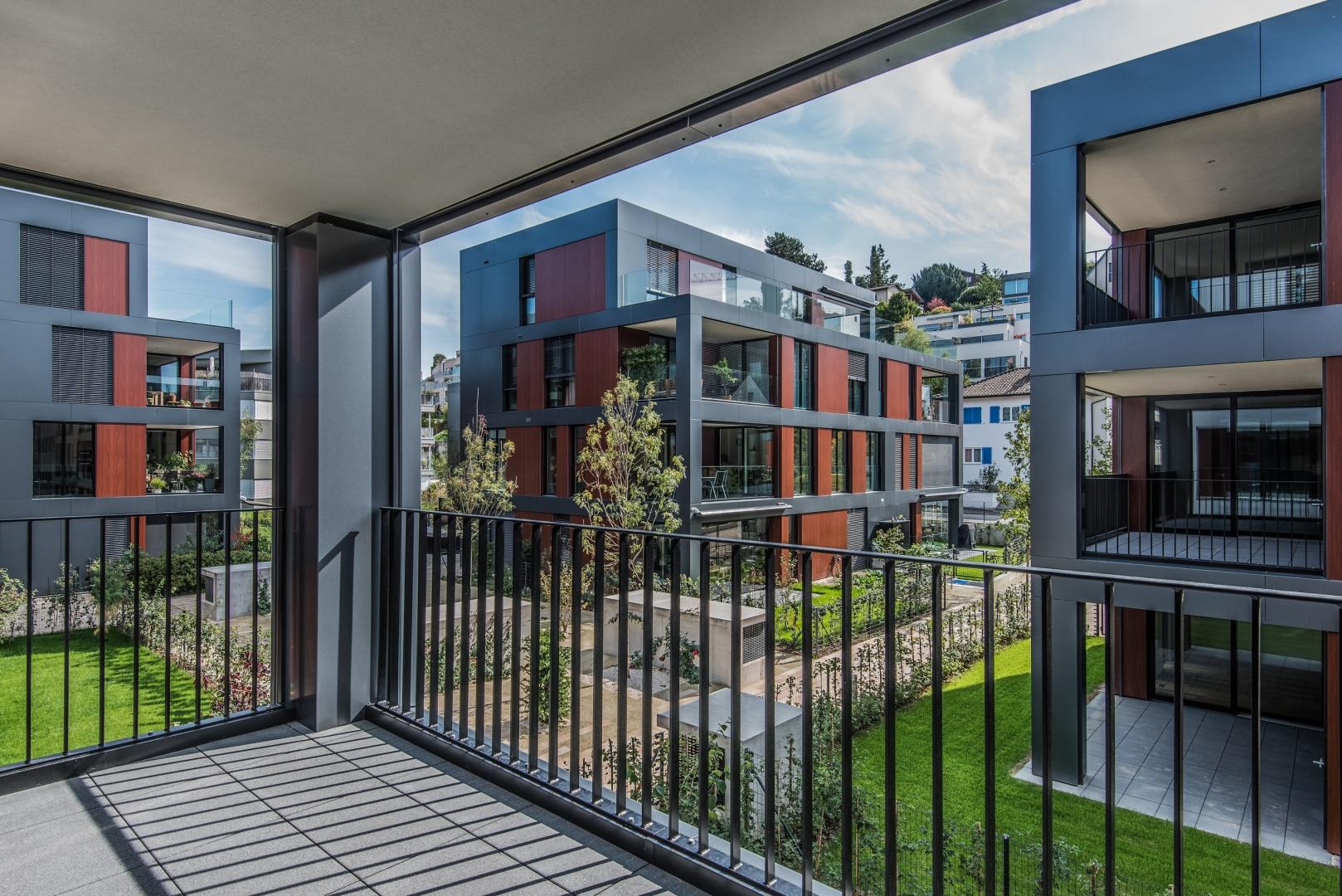 Blick auf Haus B © Ferrara Architekten AG
