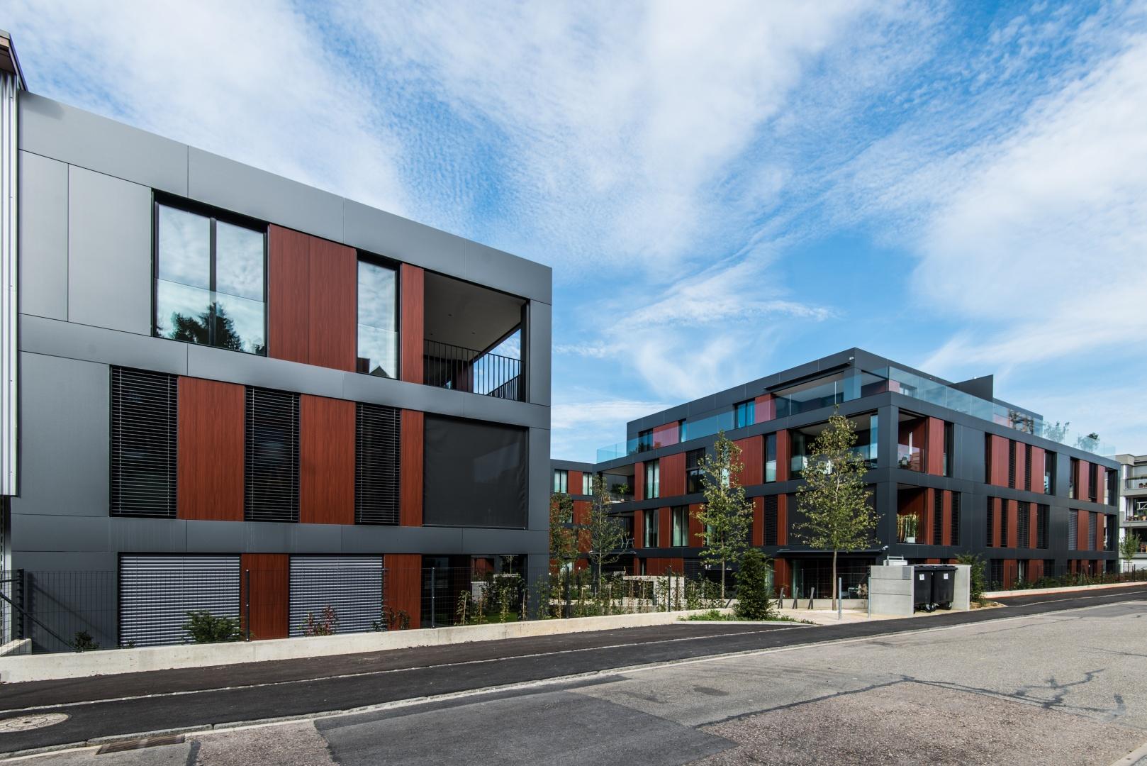 Ansicht Strasse auf Haus D+B © Ferrara Architekten AG
