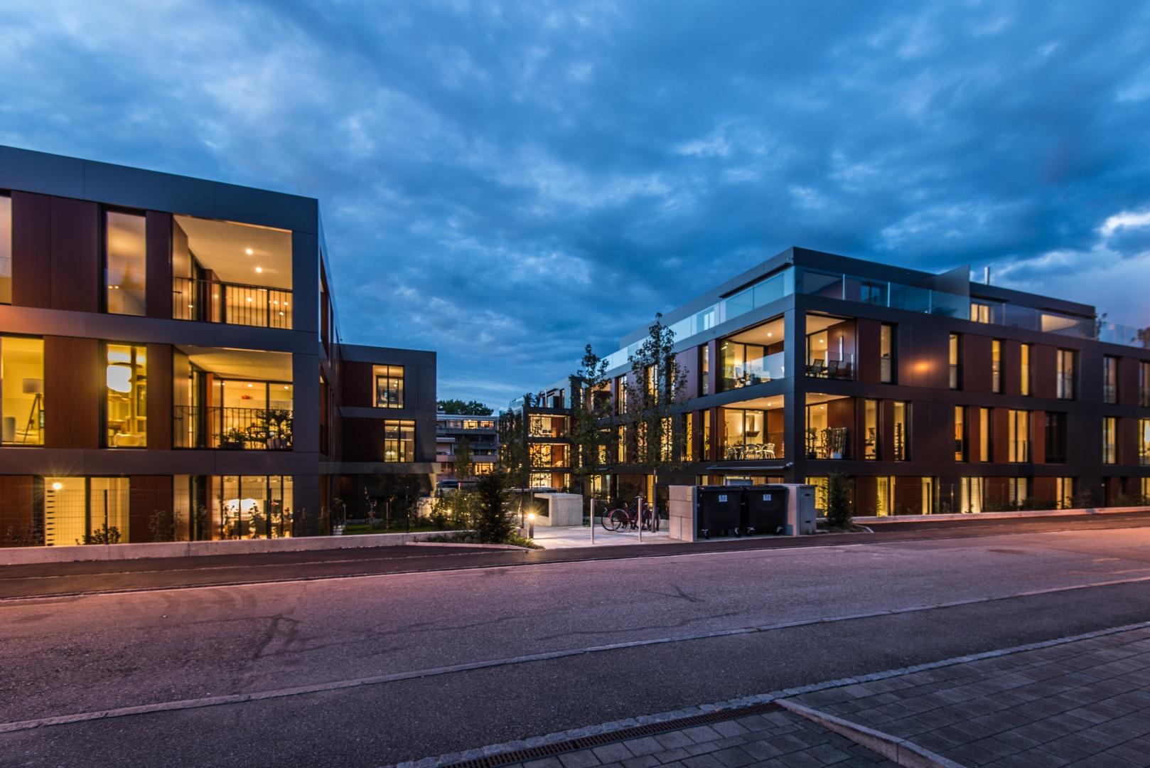 Nachtaufnahme Ansicht Haus D+A © Ferrara Architekten AG