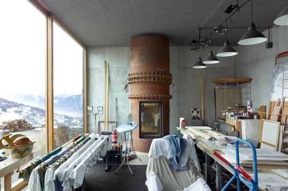 Innenansicht Atelier © Thomas Jantscher