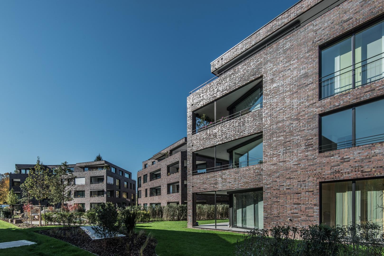 Wohnüberbauung Schützengasse Gartenansicht © Ferrara Architekten AG
