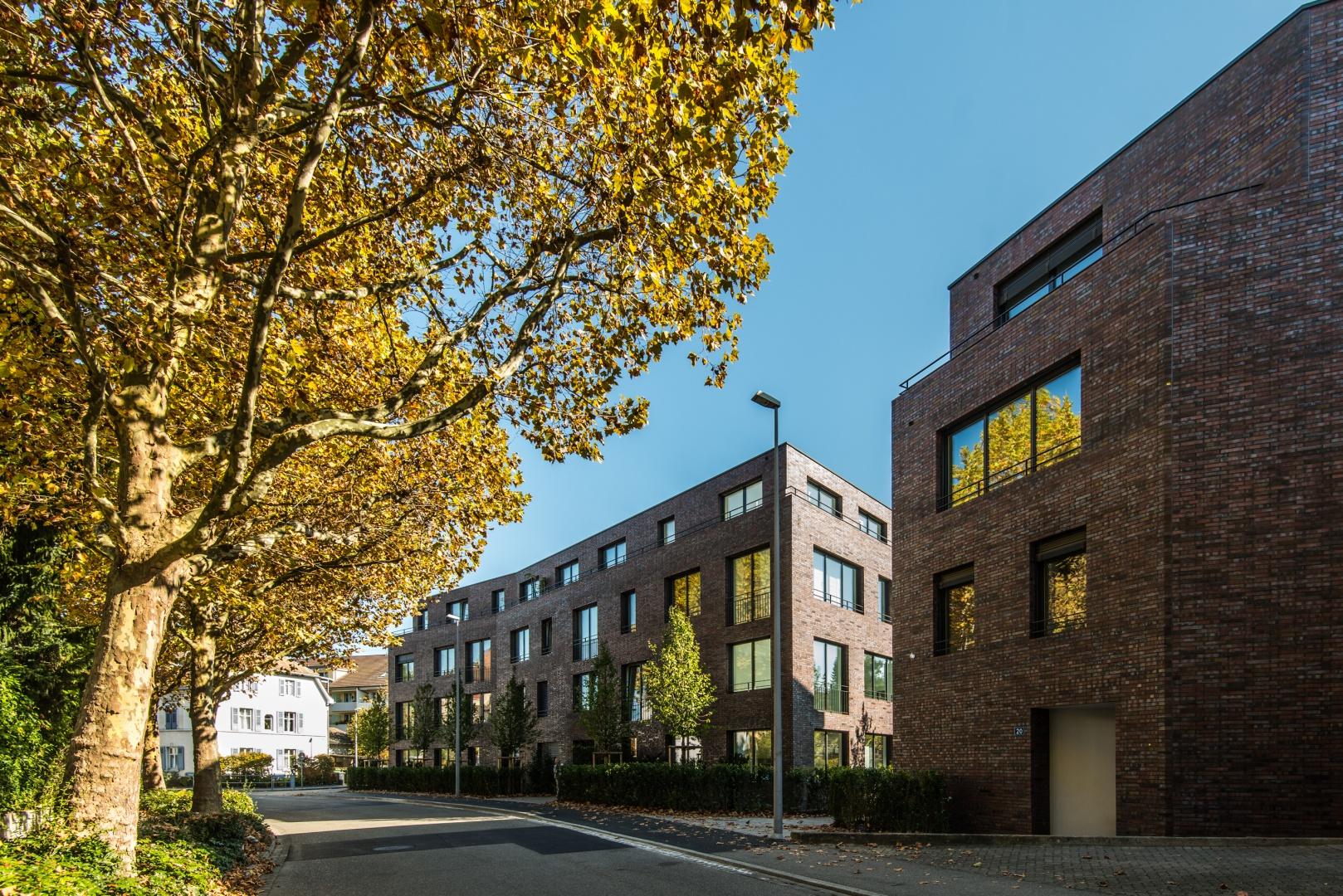 Ansicht Strasse Haus A © Ferrara Architekten AG