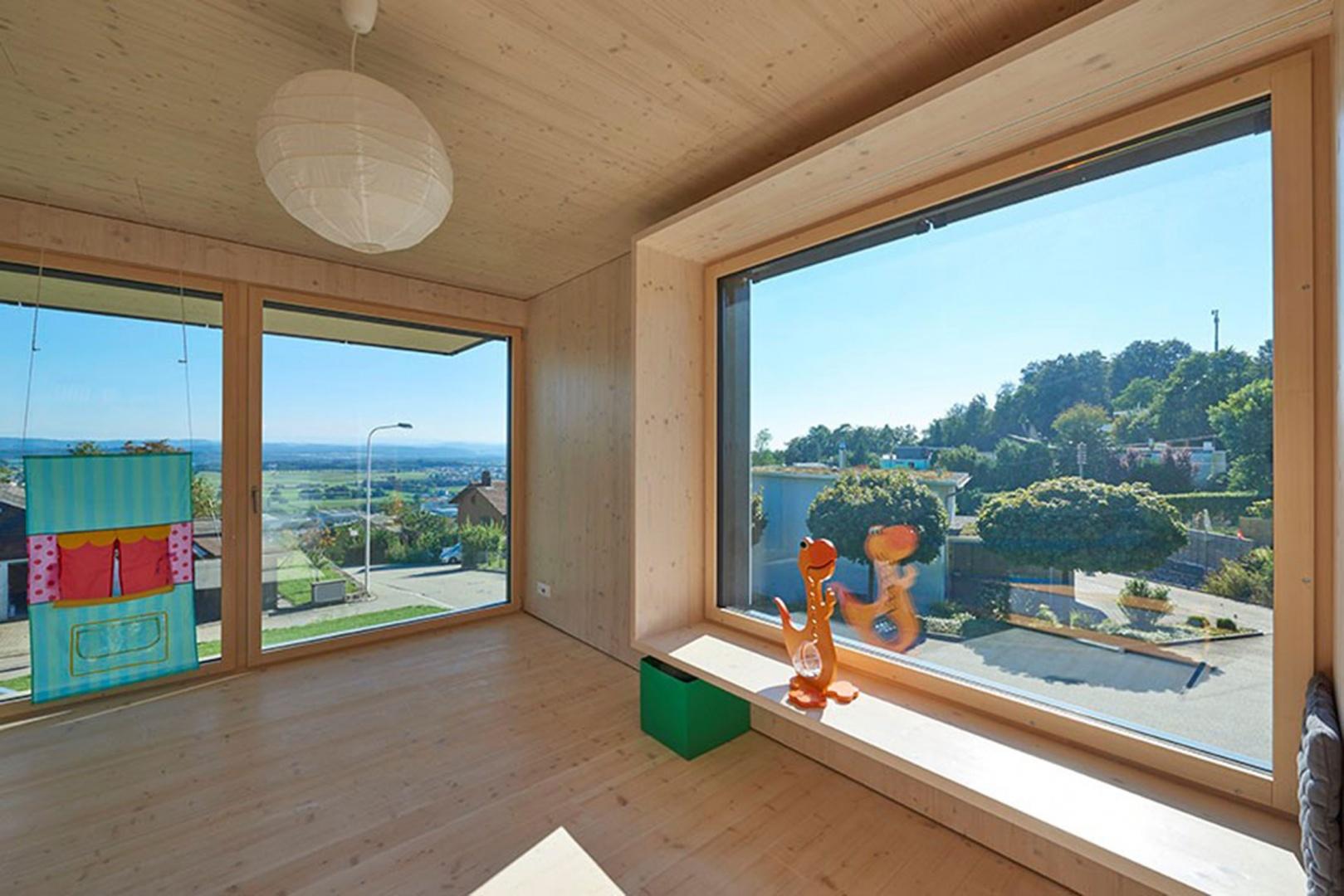 Salle de séjour © Hector Egger Holzbau AG