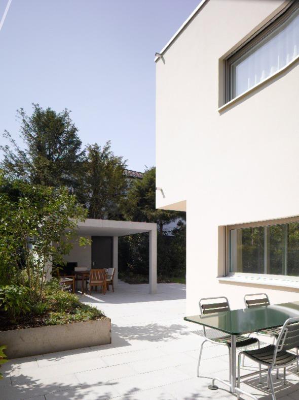 Blick zur Pergola © Merlo Architekten AG