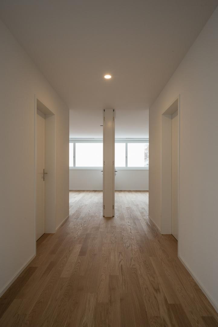 Wohnungsinterne Erschliessung Normalgeschoss offen © www.hansjoergbetschart.ch
