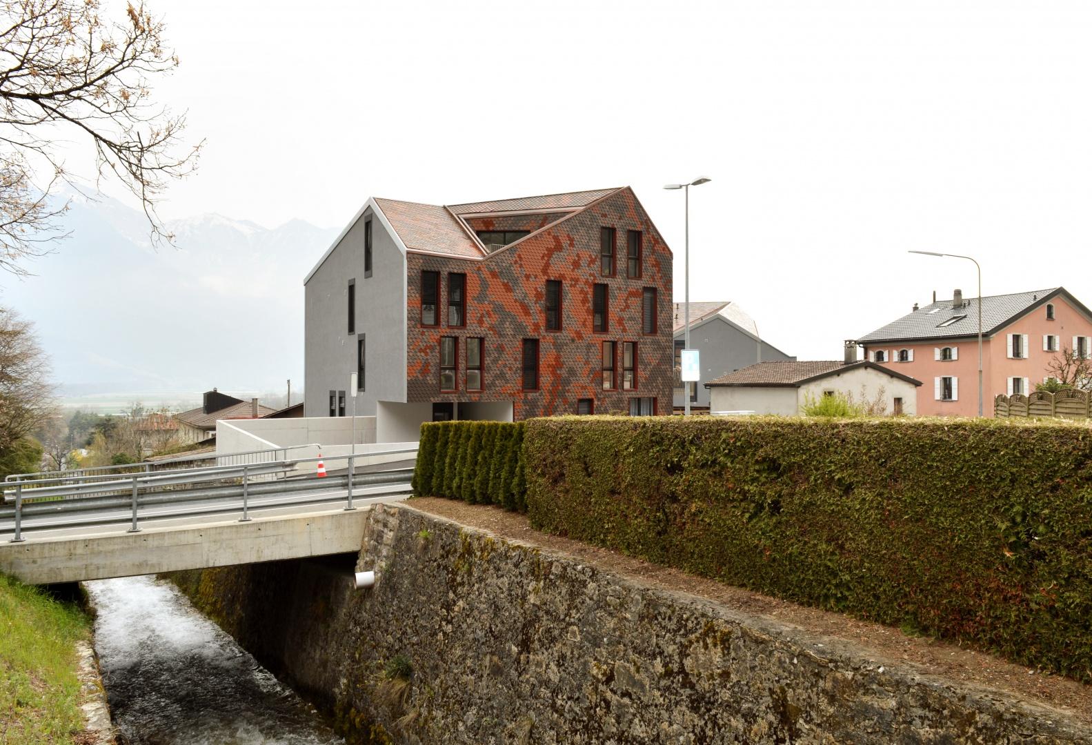 Sampan_volume_Avenue_du_Fossau © Voltolini Architectures Sàrl