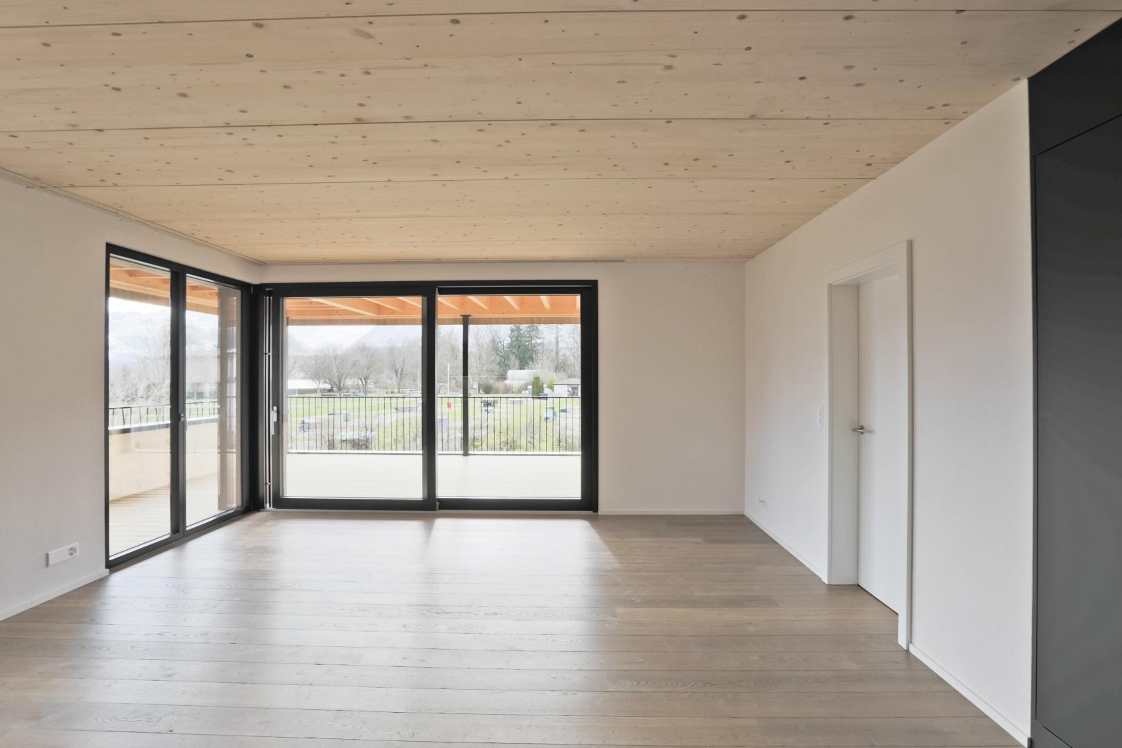 Wohnraum © Hossmann Holzbau & Architektur AG