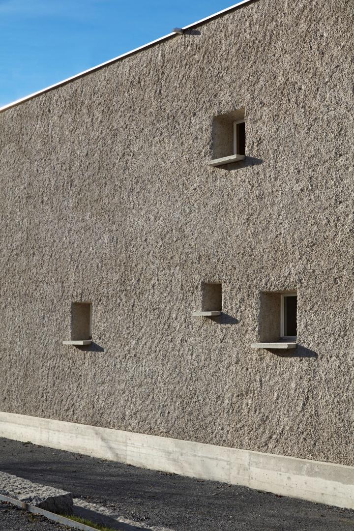 Kalkputz-Fassade, Kellenwurf © Ralph Feiner