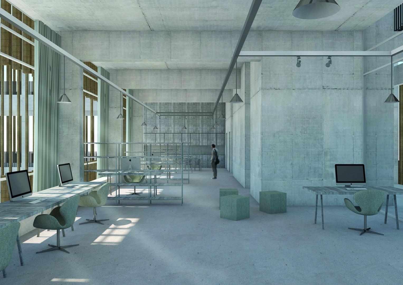 centre administratif : bureau pendant la journée © Davide Vinciguerra