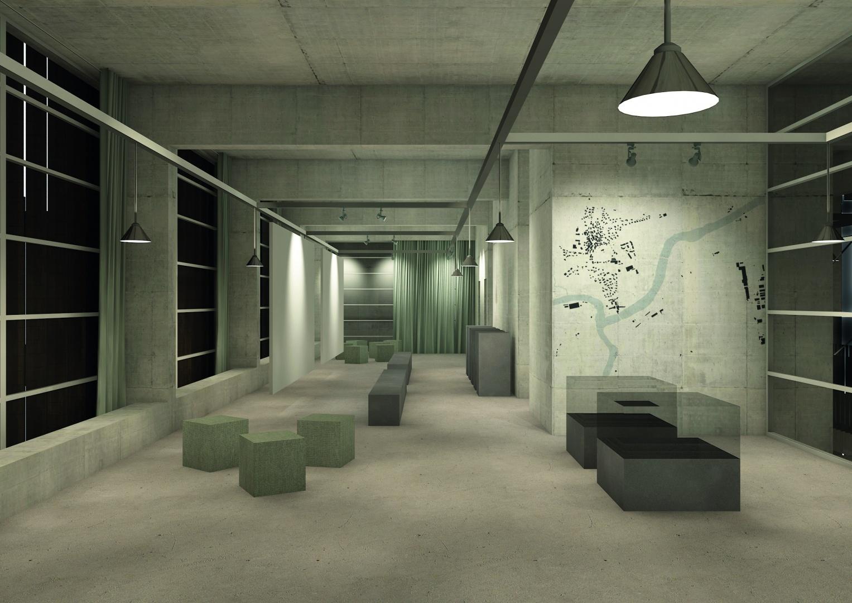 centre administratif :  exposition dans la nuit © Davide Vinciguerra