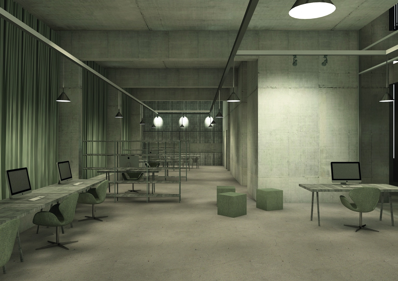 centre administratif : bureau dans la nuit © Davide Vinciguerra