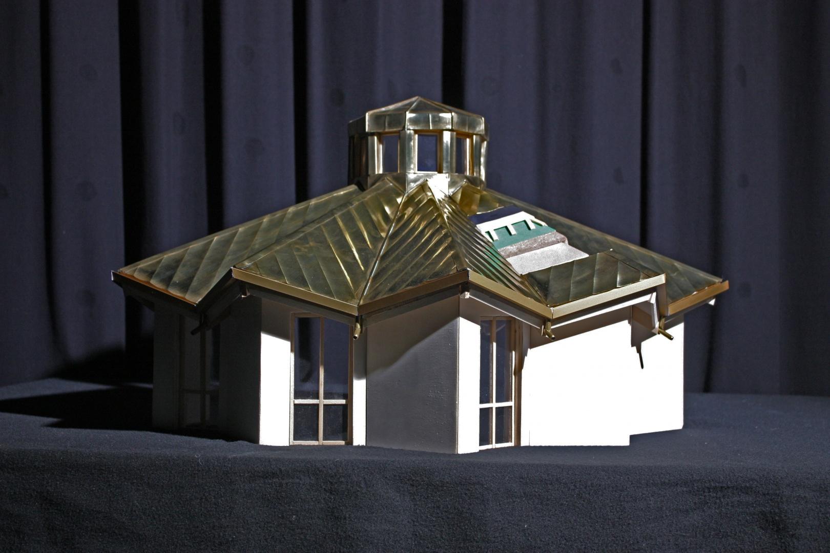 Modello 1:20 Approfondimento copertura, vista esterno © Patrik Nughedu