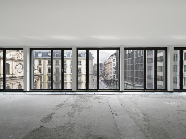 Vue intérieure frontale du module de façade © Swen Sack, photographe, Lausanne