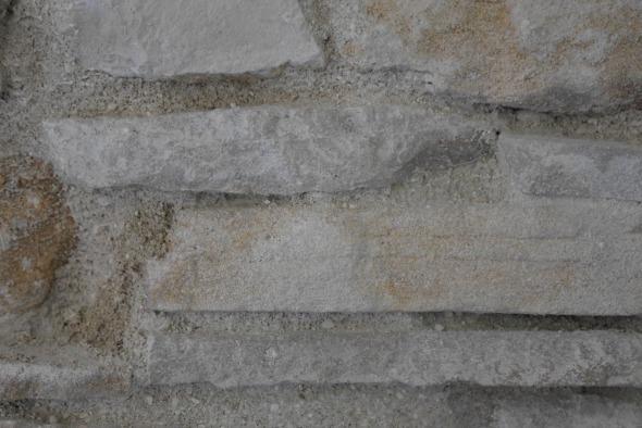 Détail mur pierres intérieur/ joint avec ciment et paille © j & m steinfels architectes