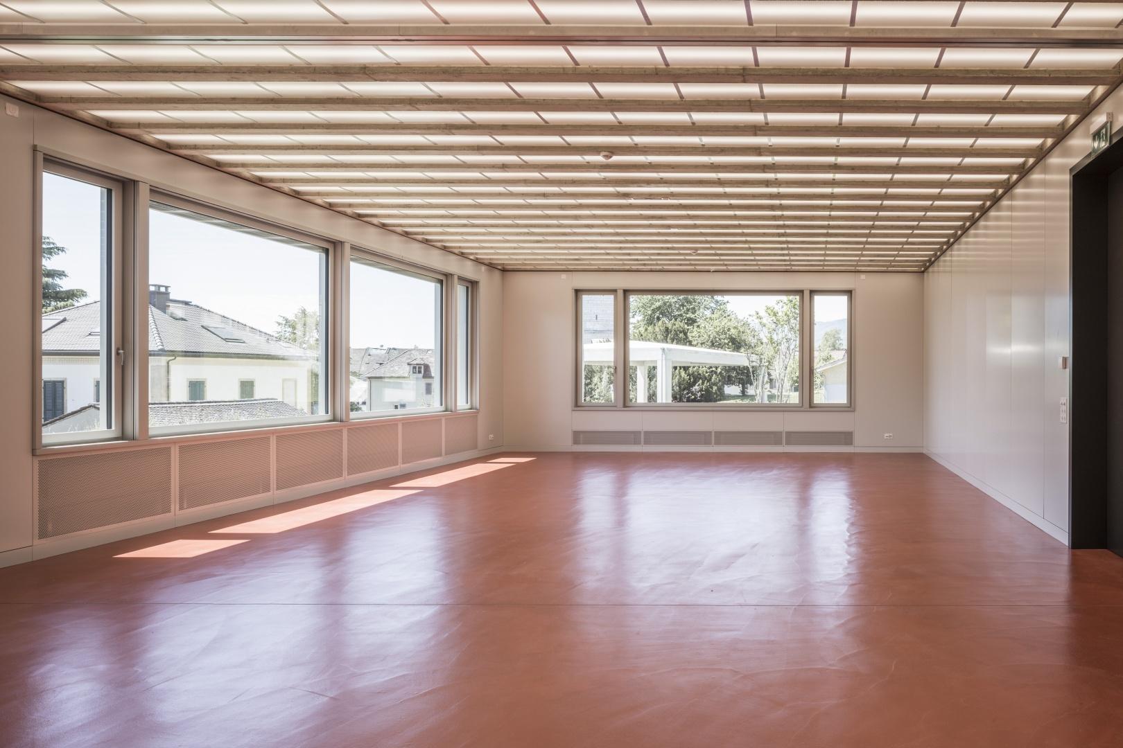 Aula © Dominique Marc Wehrli, Atelier für Architektur, Else-Züblin-Strasse 112, 8404 Winterthur,