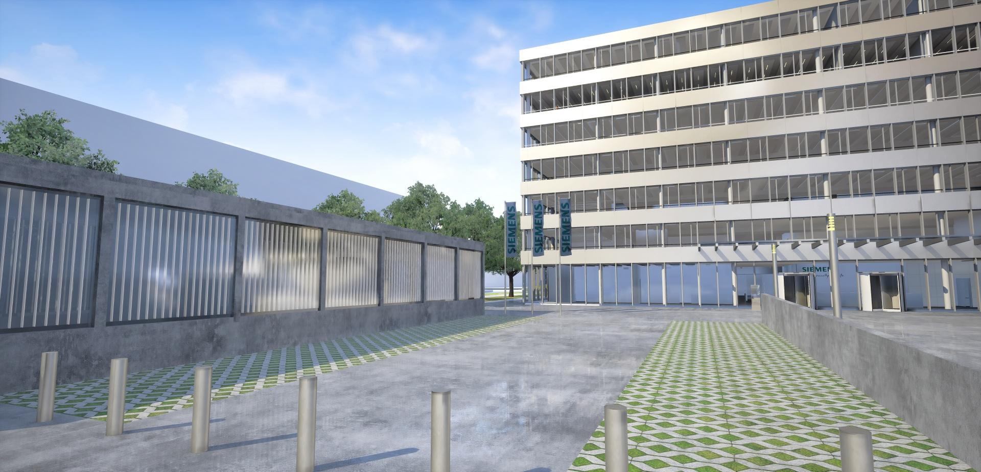 Aussenszene aus VR-Anwendung © STRABAG SE, Siemens AG