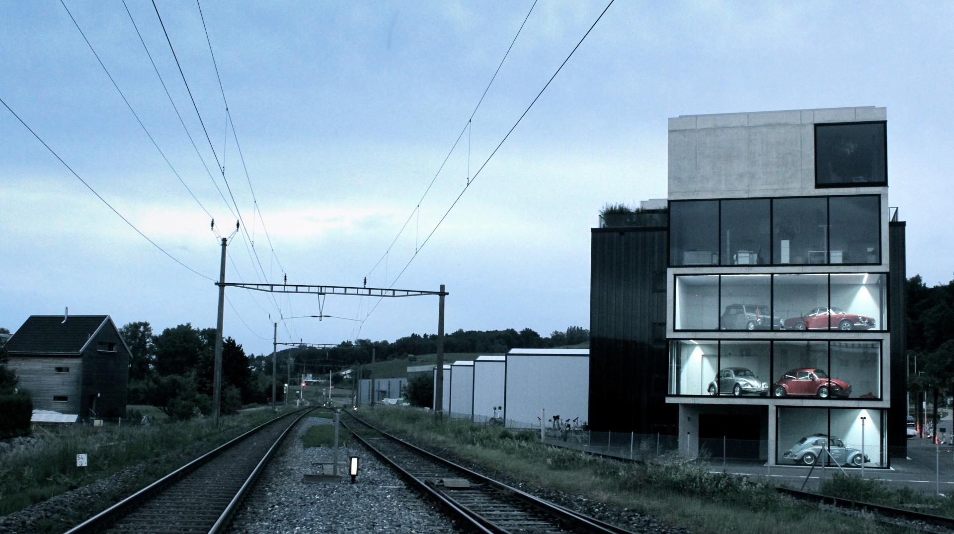 Aussenansicht Bahnlinie © Wyss Architektur + Bauleitung