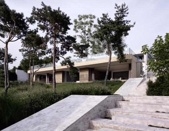 Blick auf das Wohnhaus Fotograf: Bruno Helbling © Bruno Helbling
