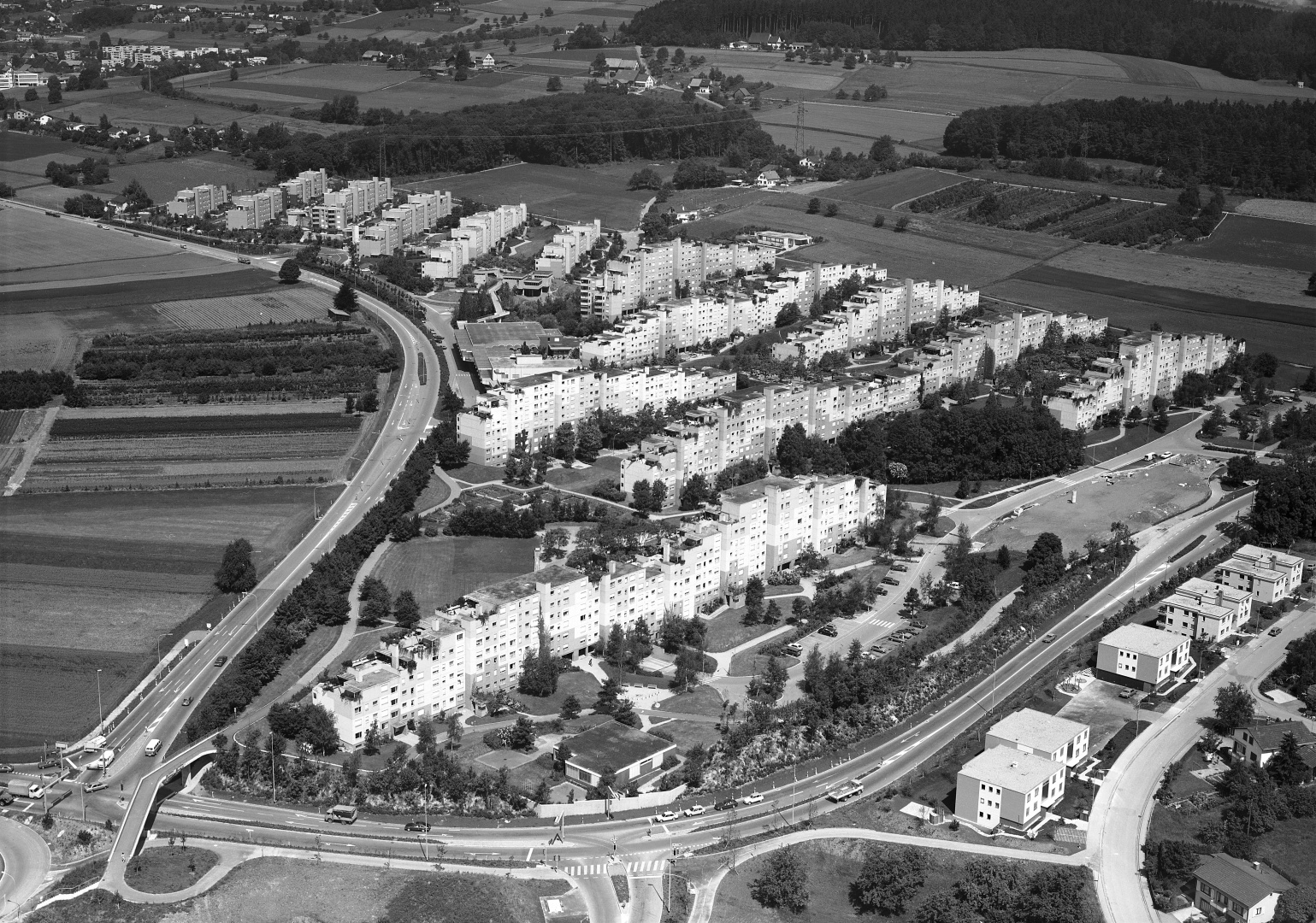 Siedlung Sonnhalde, Aufnahme von 1980 © ETH-Bibliothek Zürich, Bildarchiv