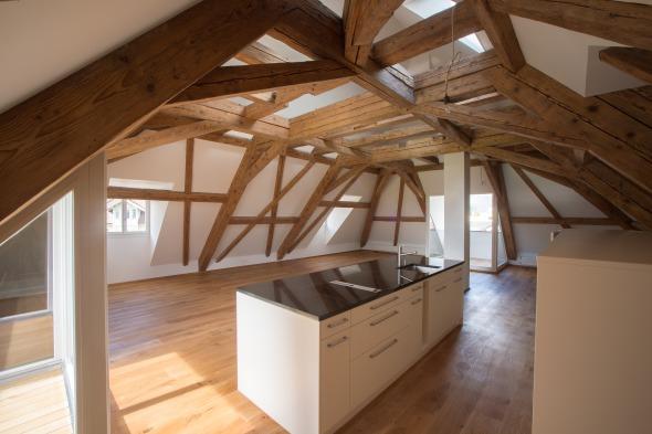 Küche Dachraum  © Fotostudio Fischlin