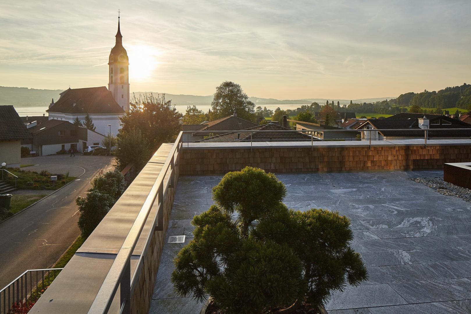 Aussicht Terrasse zweites Obergeschoss © Marco Sieber, Luzern
