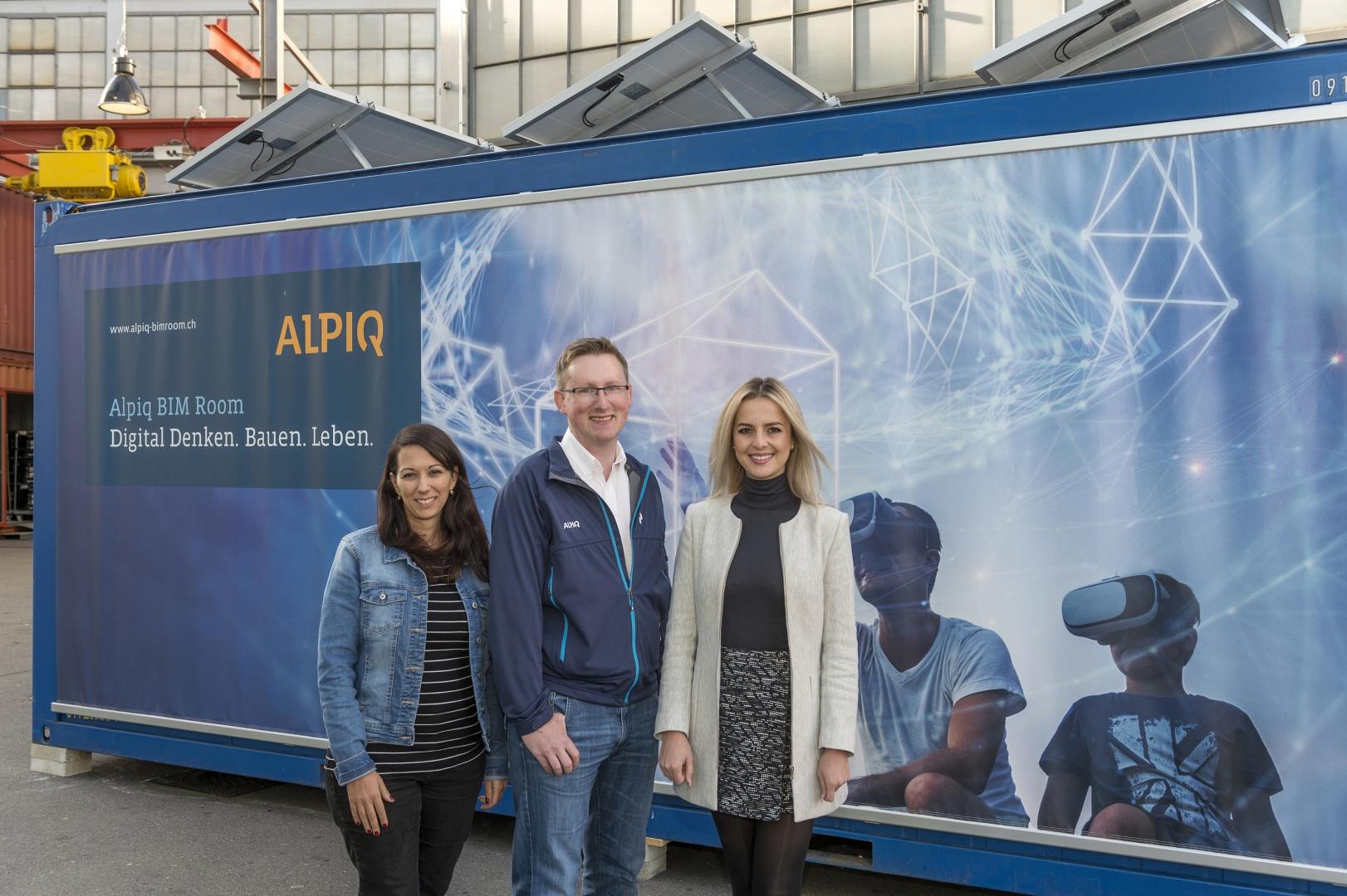 Lead Projektteam (v.l.n.r. Viviana Angelico, Stefan Wüst, Egzona Aliji) © Alpiq InTec Schweiz AG, Webereiweg 6, 4802 Strengelbach