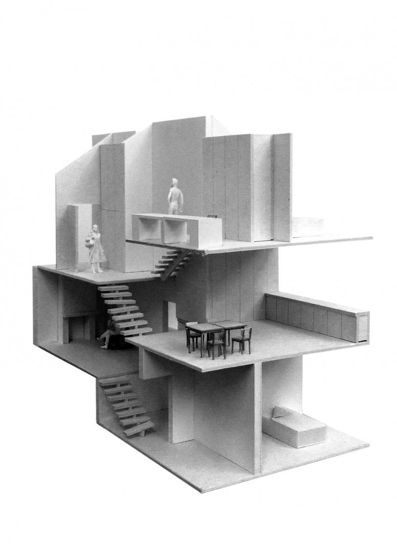 Modellbild Strukturkonzept © Scheibler Villard, Basel