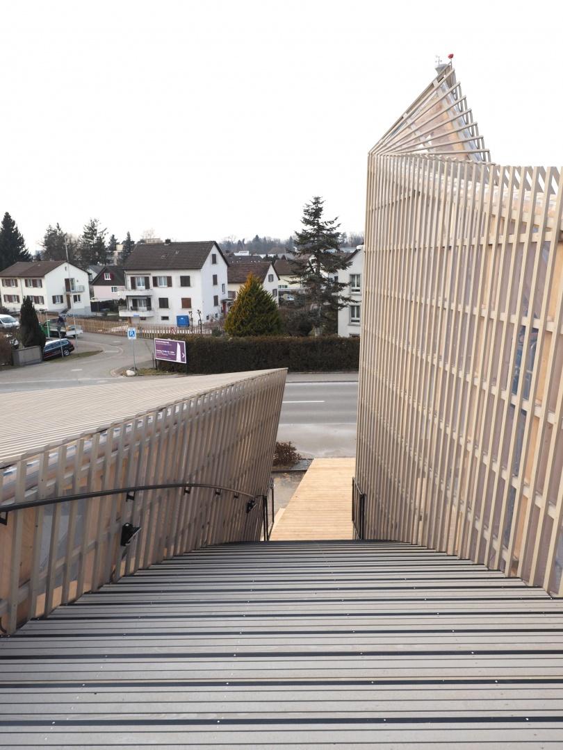 Außentreppe von oben © Blumer-Lehmann AG, Erlenhof, CH-9200 Gossau