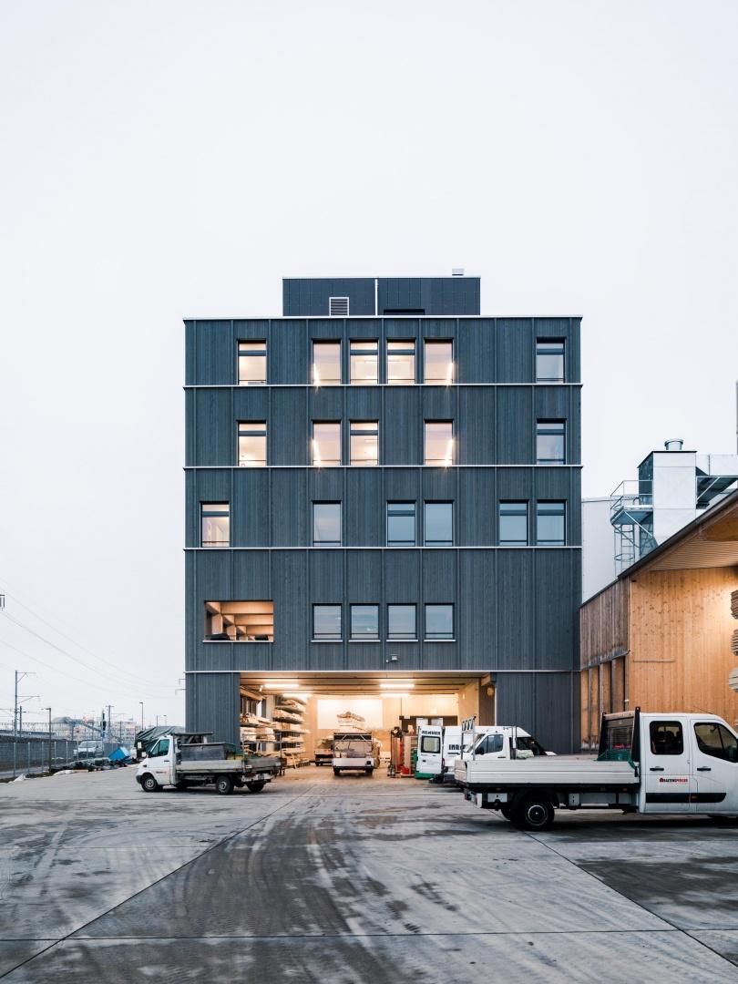 B ro und produktionsgeb ude schweizer baudokumentation - Bob gysin partner bgp architekten ...