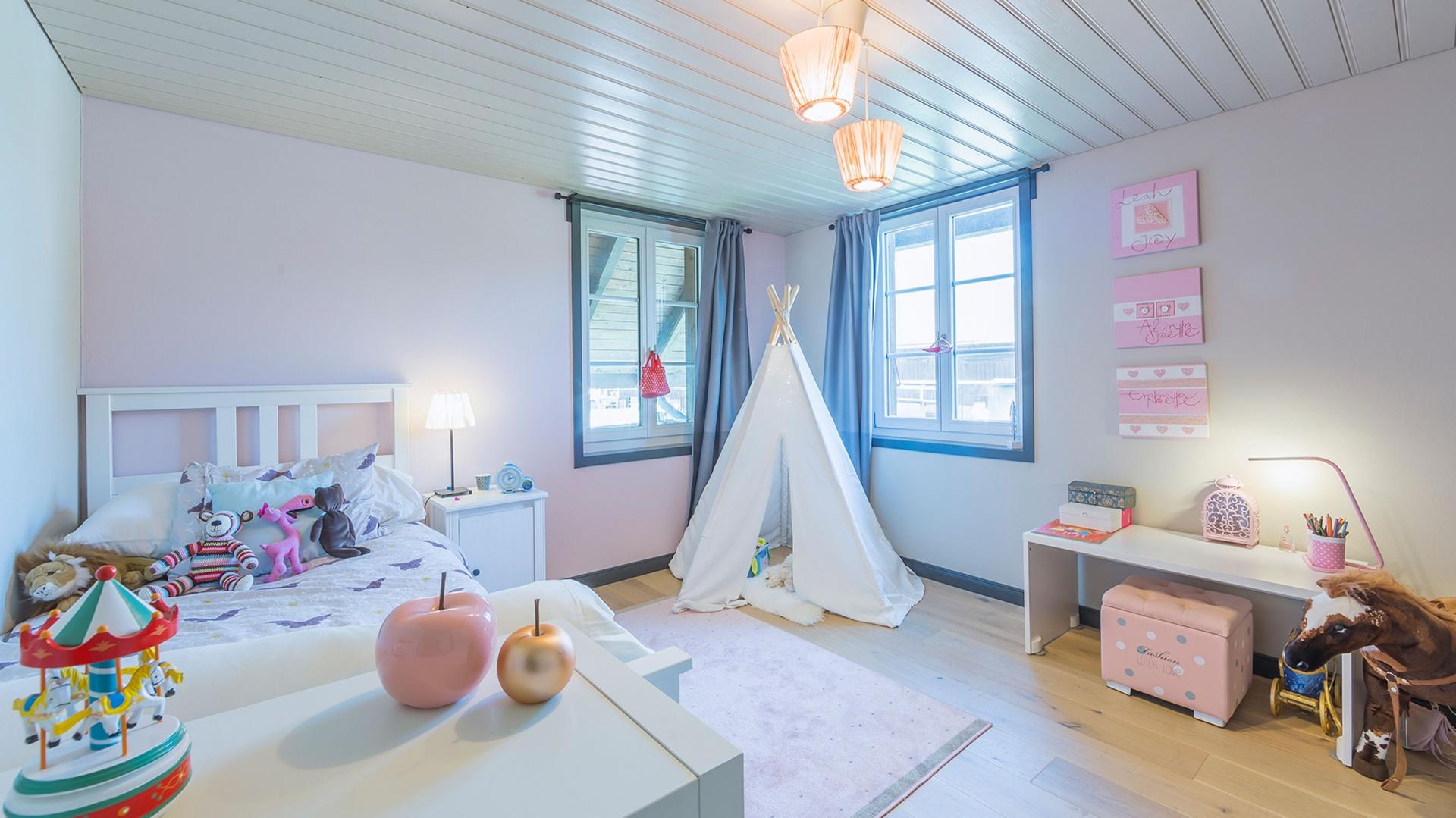 Kinderzimmer OG © Dever GmbH, Le-Corbusier-Platz 6, 3027 Bern