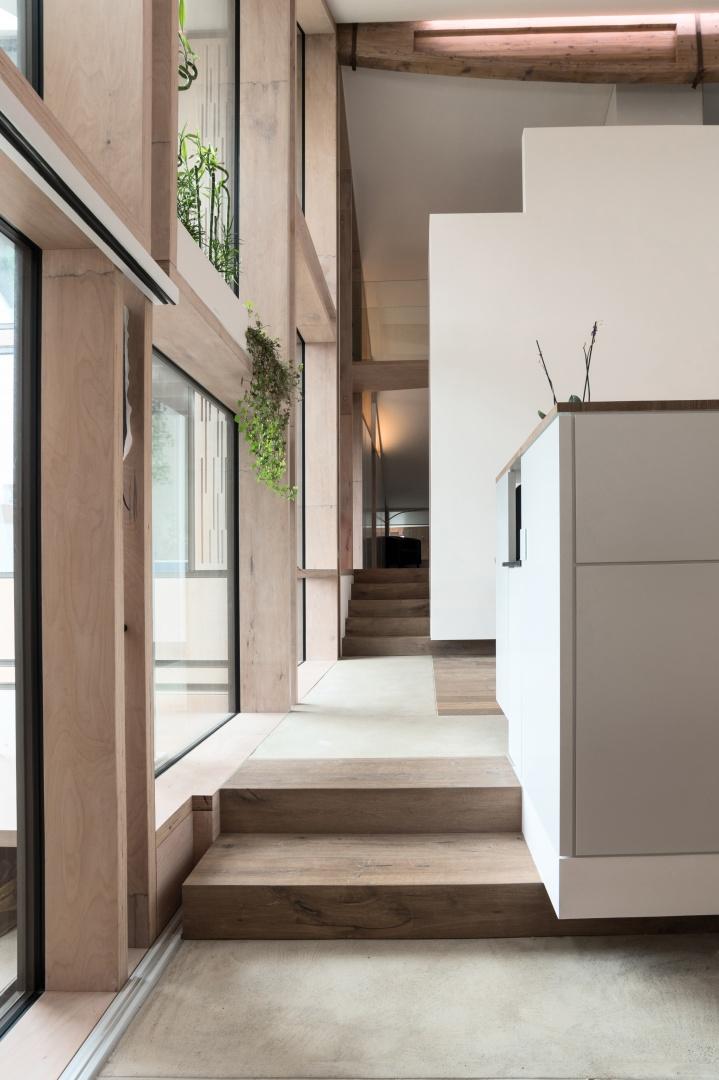 Eingang 2. Etage © Samuel Nugues, Mangeat-Wahlen Architectes Associés