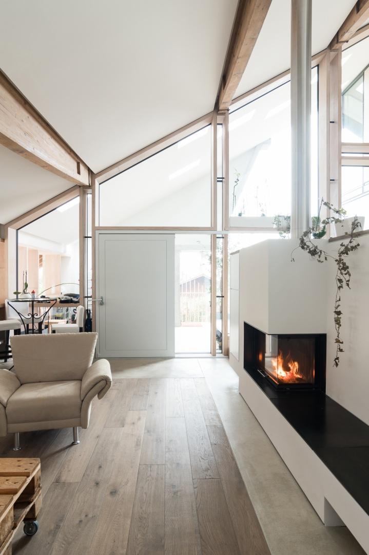 Wohnraum 2. Etage © Samuel Nugues, Mangeat-Wahlen Architectes Associés