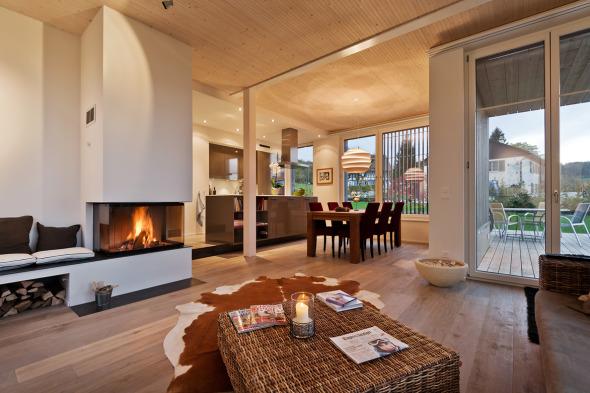 Wohnzimmer möbliert © Giesser Architektur + Planung