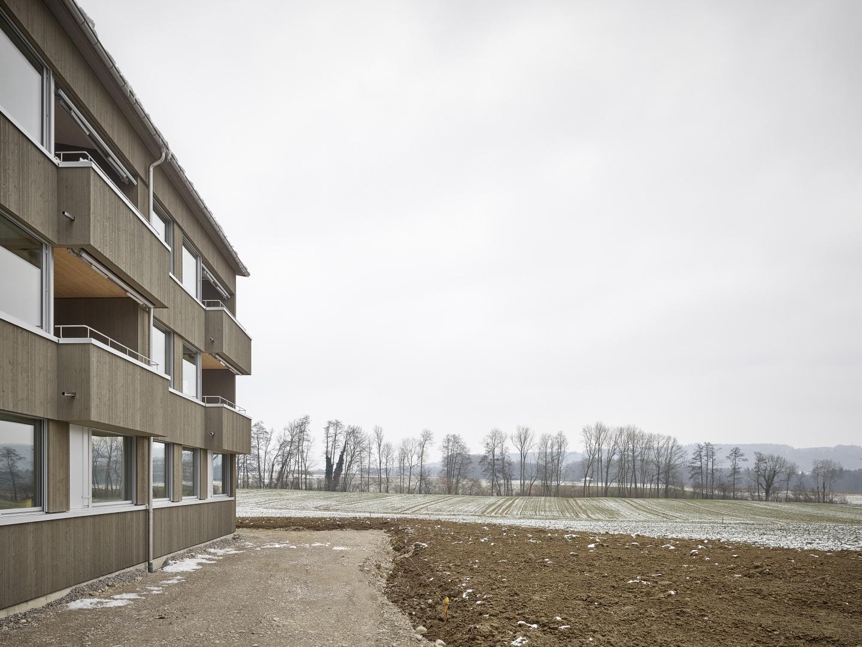 Aussenbild Westfassade © Antoniol + Huber + Partner, Zürcherstrasse 125, 8500 Frauenfeld