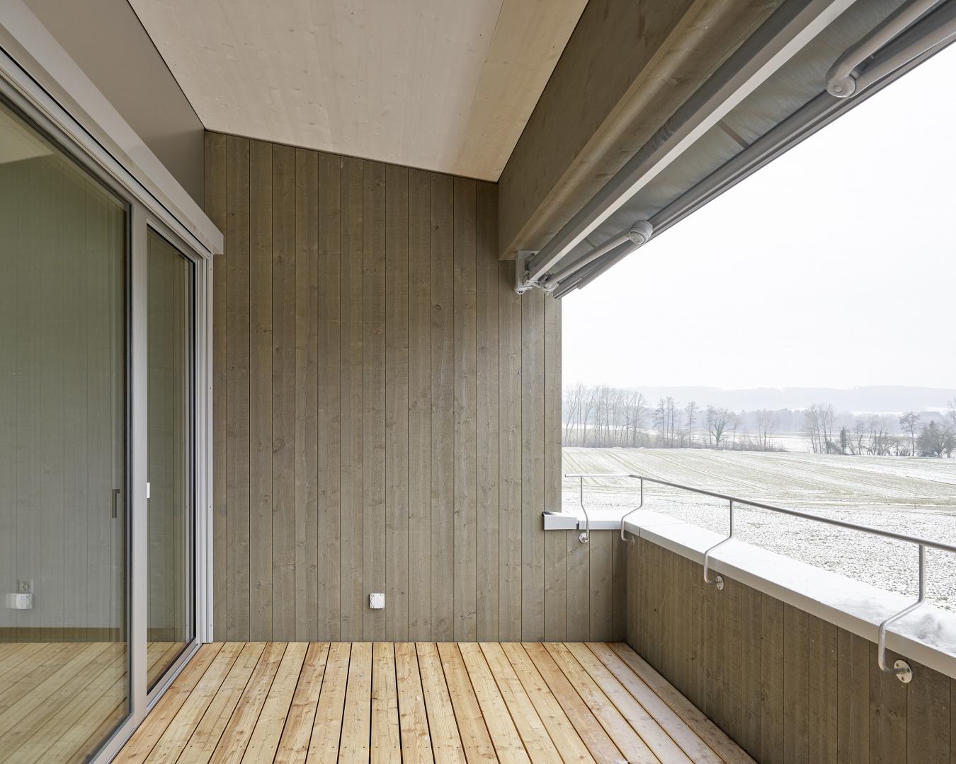 Wohnung OG02 Loggia © Antoniol + Huber + Partner, Zürcherstrasse 125, 8500 Frauenfeld