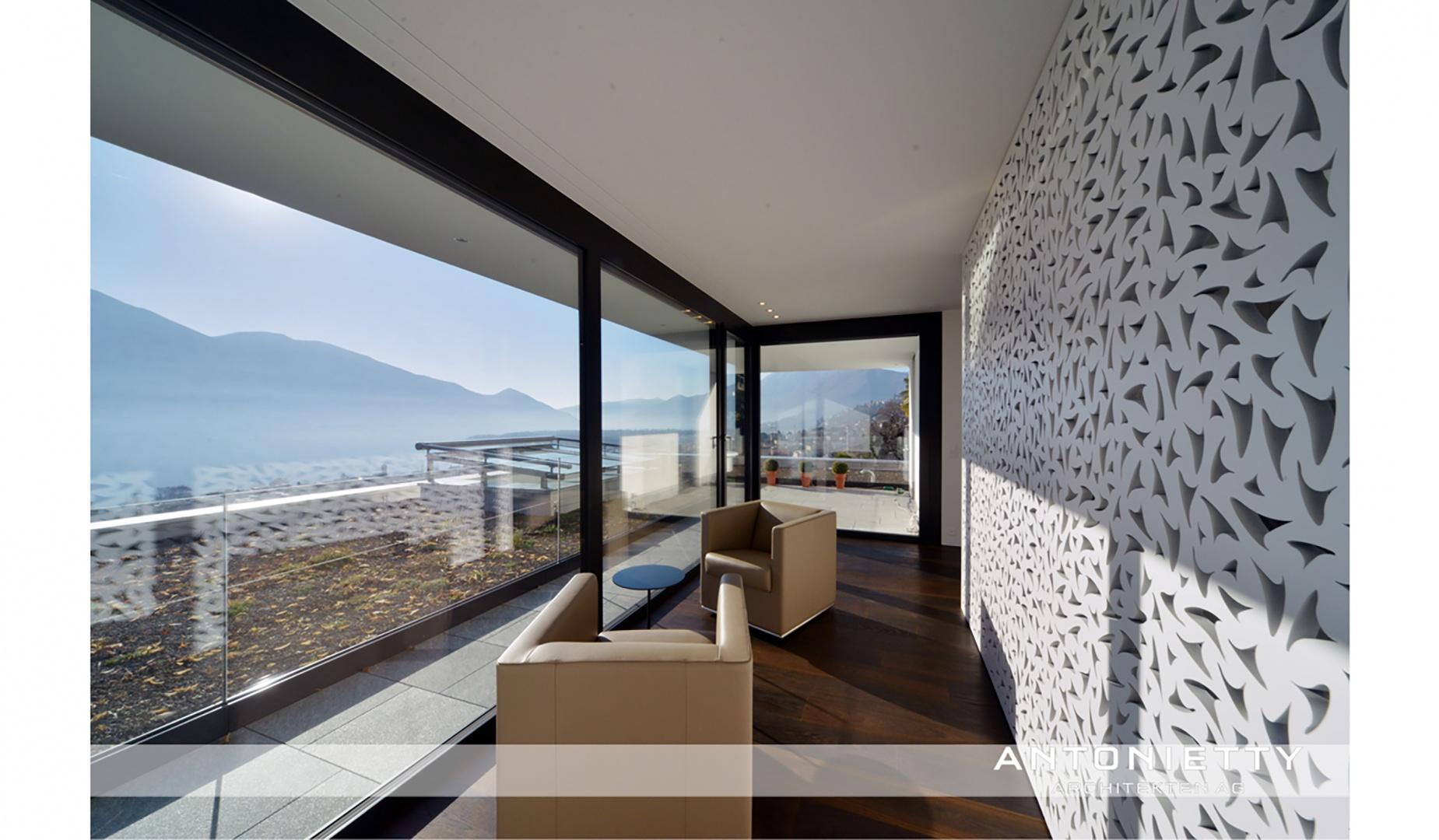 Perforierte Wand © Carlos Antonietty, Antonietty Architekten AG, Bürgenstrasse 23, 6005 Luzern