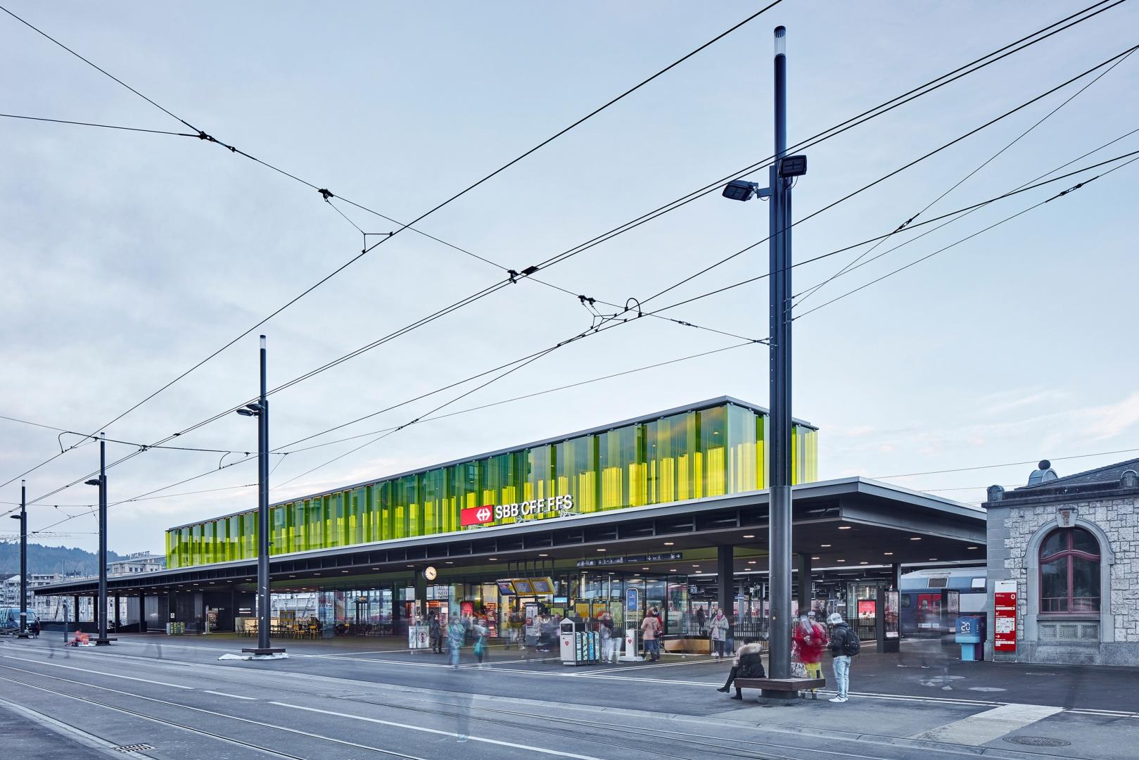 Ansicht Bahnhofplatz Süd © René Dürr Architekturfotografie